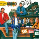 SAWYER BROWN GROUP AUTOGRAPHED 8x10 RP PUBLICITY PHOTO ALL 5