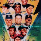 BASEBALL LEGENDS 500 + HOME RUNS TED WILLIAMS HANK AARON + SIGNED AUTOGRAPHED 8x10 PHOTO