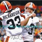 BRANDON WEEDEN AND TRENT RICHARDSON AUTOGRAPHED 8x10 RP PHOTO CLEVELAND BROWNS