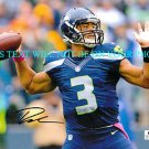 RUSSELL WILSON SIGNED AUTOGRAPHED AUTO 8x10 RP PHOTO SEATTLE SEAHAWKS QB
