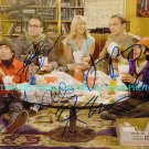 THE BIG BANG THEORY CAST SIGNED AUTOGRAPHED 8x10 PHOTO ALL 5 JIM PARSONS KALEY CUOCO +