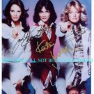 CHARLIES ANGELS CAST AUTOGRAPHED 8x10 RP PHOTO SMITH JACKSON AND FAWCETT