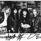 MEGADETH AUTOGRAPHED 8x10RP PROMO PHOTO MEGADEATH NICK MENZA DAVE MUSTAINE