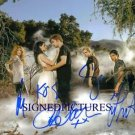 TWILIGHT BREAKING DAWN CAST SIGNED 8x10 RP PHOTO BY5 PATTINSON STEWART LAUTNER +