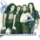 VAN HALEN SIGNED AUTOGRAPHED 8x10 RP PHOTO with DAVID LEE ROTH EDDIE ALEX AND MIKE