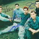 N'SYNC GROUP BAND 5 AUTOGRAPHED 8x10 RP PHOTO NSYNC TIMBERLAKE FATONE BASS JC +