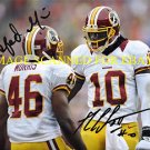 ROBERT GRIFFIN AND ALFRED MORRIS SIGNED AUTOGRAPHED 8x10 RP PHOTO WASHINGTON REDSKINS