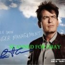 CHARLIE SHEEN AUTOGRAPHED 8x10 RP PHOTO ANGER MANAGEMENT  HILARIOUS