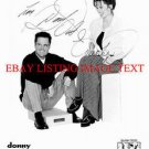 DONNIE AND MARIE OSMOND AUTOGRAPHED 8x10 RP PHOTO THE OSMONDS