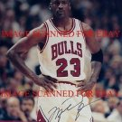 MICHAEL JORDAN AUTO AUTOGRAPHED 8x10 RP PHOTO CHICAGO BULLS LEGENDARY PLAYER