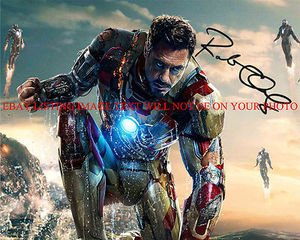 ROBERT DOWNEY JR AUTOGRAPHED 8x10 RP PHOTO IRONMAN 3 IRON MAN