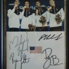 MICHAEL PHELPS RYAN LOCHTE PETER VANDERKAAY RICKY BERENS FRAMED SIGNED RP PHOTO
