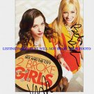 2 BROKE GIRLS CAST AUTOGRAPHED 8x10 RP PROMO PHOTO KAT DENNINGS BETH BEHRS TWO