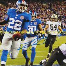 DAVID WILSON AUTOGRAPHED AUTO 8x10 RP PHOTO NEW YORK GIANTS RB