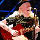 JOHNNY WINTER AUTOGRAPHED 8x10 RP PHOTO WITH GUITAR