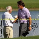 PHIL MICKELSON AND ARNOLD PALMER SIGNED AUTOGRAPHED AUTO 8x10 RP PHOTO