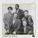SIMPLY RED AUTOGRAPHED GROUP 80's BAND 8x10 RP PROMO PHOTO MICK HUCKNALL +