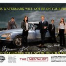 THE MENTALIST AUTOGRAPHED CAST 8x10 RP PROMOTIONAL PHOTO BY 5 SIMON BAKER ROBIN