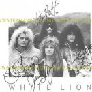 WHITE LION BAND AUTOGRAPHED 8x10 RP PHOTO ALL FOUR MIKE TRAMP VITO BRATTA +