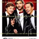 TWO AND A HALF MEN CAST SIGNED AUTOGRAPHED 8x10 RP PHOTO ALL 3 ASHTON KUTCHER +