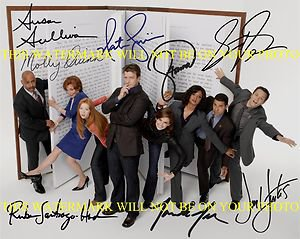 CASTLE FULL CAST SIGNED AUTOGRAPHED 8x10 RP PHOTO BY 8 NATHAN FILLION STANA KATIC +