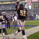 JUNIOR SEAU SAN DIEGO CHARGERS AUTOGRAPHED 8x10 RP PHOTO  AWESOME LB