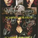 THE VAMPIRE DIARIES CAST SIGNED AUTOGRAPHED 8X10 RP PHOTO BY 8 NINA DOBREV IAN SOMERHALDER +