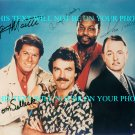 MAGNUM PI CAST SIGNED AUTOGRAPHED RP 8x10 PHOTO BY ALL 4 TOM SELLECK + P.I.