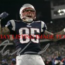 AARON HERNANDEZ AUTOGRAPHED 8x10 RP PHOTO NE PATRIOTS EMOTION - THE RAGE
