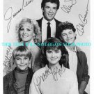GROWING PAINS CAST SIGNED AUTOGRAPHED PHOTO BY 5 THICKE CAMERON