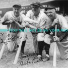 BABE RUTH AND TY COBB SIGNED AUTOGRAPHED 8x10 RP PHOTO LEGENDARY
