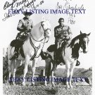 THE LONE RANGER SIGNED AUTOGRAPHED 8x10 PHOTO CLAYTON MOORE AND JAY SILVERHEELS