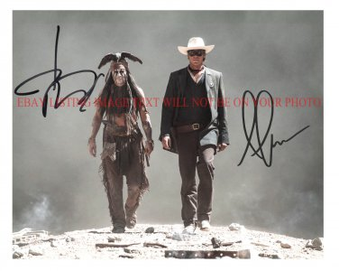 THE LONE RANGER CAST SIGNED AUTOGRAPHED 8x10 PHOTO JOHNNY DEPP AND ARMIE HAMMER