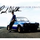 PAUL WALKER WITH BLUE CAR SIGNED AUTOGRAPHED 8x10 RP PHOTO SO COOL
