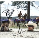 THE LONE RANGER CAST ARMIE HAMMER AND JOHNNY DEPP AUTOGRAPHED 8X10 RP PHOTO