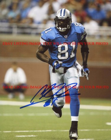 CALVIN JOHNSON AUTOGRAPHED AUTO 8x10 RP PHOTO DETROIT LIONS MEGATRON AWESOME WR