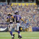 CHRISTIAN PONDER AND PERCY HARVIN AUTOGRAPHED 8x10 RP PHOTO MINNESOTA VIKINGS