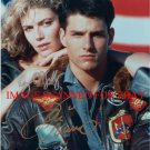 TOM CRUISE AND KELLY MCGILLIS AUTOGRAPHED 8x10 RP PHOTO TOP GUN CAST