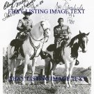 THE LONE RANGER CAST CLAYTON MOORE AND JAY SILVERHEELS AUTOGRAPHED 8x10 RP PHOTO