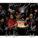 THE SOPRANOS CAST AUTOGRAPHED 8x10 RP PHOTO JAMES GANDOLFINI EDIE FALCO +