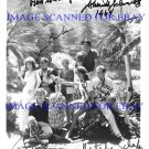 GILLIGANS ISLAND SS MINNOW CAST SIGNED AUTOGRAPHED 8x10 RP PHOTO BY ALL 8 GILLIGAN'S