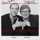 GENE SISKEL AND ROGER EBERT AUTOGRAPHED 8x10 RP MEDIA PHOTO AT THE MOVIES