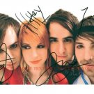 PARAMORE AUTOGRAPHED 8x10 RP PHOTO HAYLEY WILLIAMS ALL 4