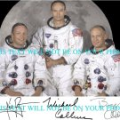 NEIL ARMSTRONG BUZZ ALDRIN MICHAEL COLLINS AUTOGRAPHED 8x10 RP PHOTO APOLLO 11
