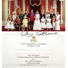 PRINCE WILLIAM AND CATHERINE KATE MIDDLETON AUTOGRAPH AUTOGRAM 8x10 ROYAL WEDDING PHOTO & INVITATION