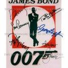 007 BOND CONNERY BROSNAN MOORE ALL 6 JAMES BONDS SIGNED RP PHOTO DANIEL CRAIG