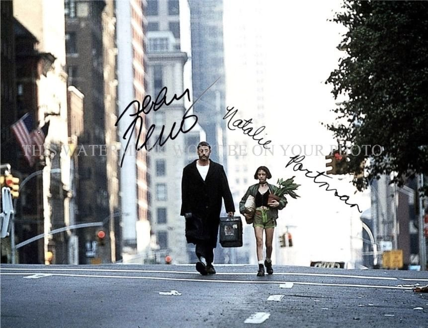 THE PROFESSIONAL CAST LEON AUTOGRAPHED 8x10 RPT PHOTO NATALIE PORTMAN JEAN RENO