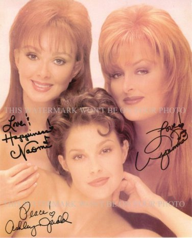 "ASHLEY NAOMI AND WYNONNA JUDD AUTOGRAPHED 8""X10"" RPT PHOTO THE JUDDS"