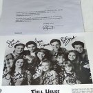 FULL HOUSE CAST SIGNED AUTOGRAPHED 8x10 RPT PROMO PHOTO w LETTER GREAT SHOW