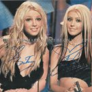 "BRITNEY SPEARS AND CHRISTINA AGUILERA AUTOGRAPHED 8""X10"" RPT PHOTO YOUNG"